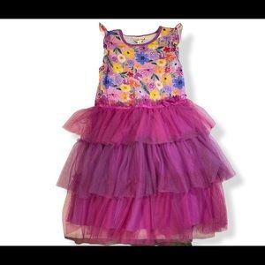 Matilda Jane dress with tulle layered skirt